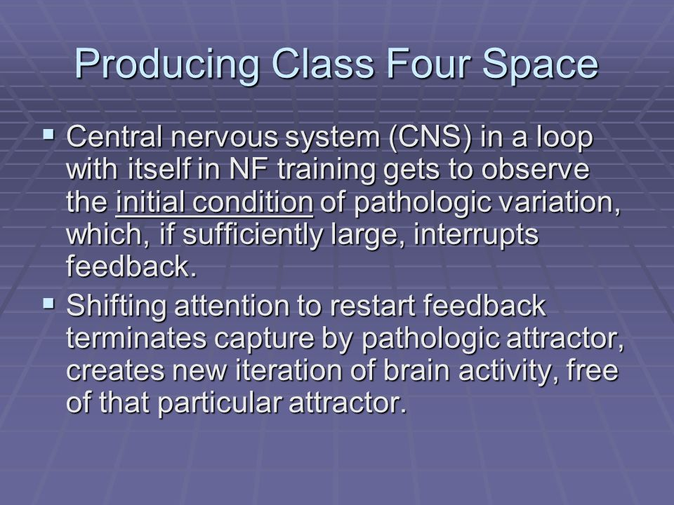 Producing Class Four Space