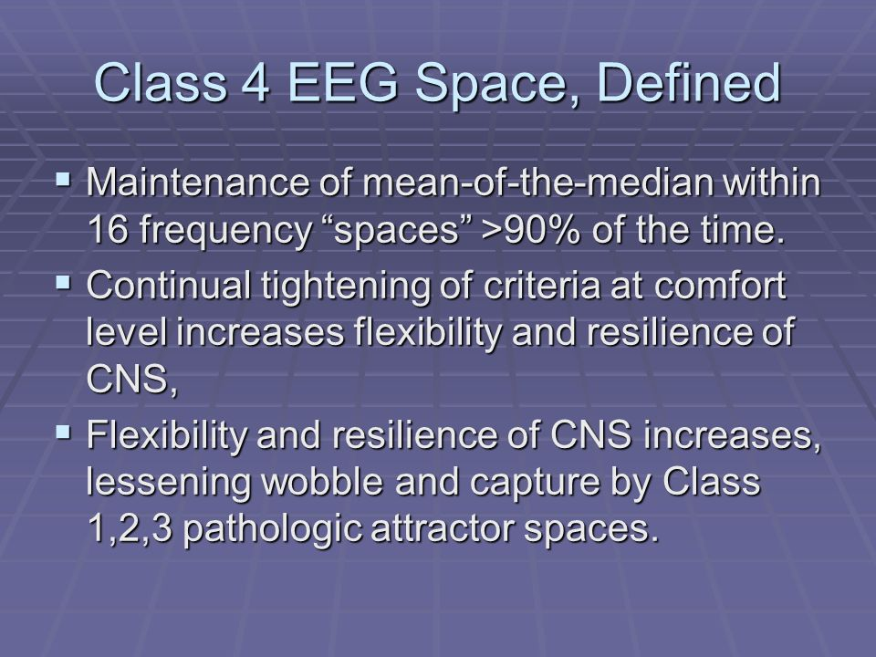 Class 4 EEG Space, Defined