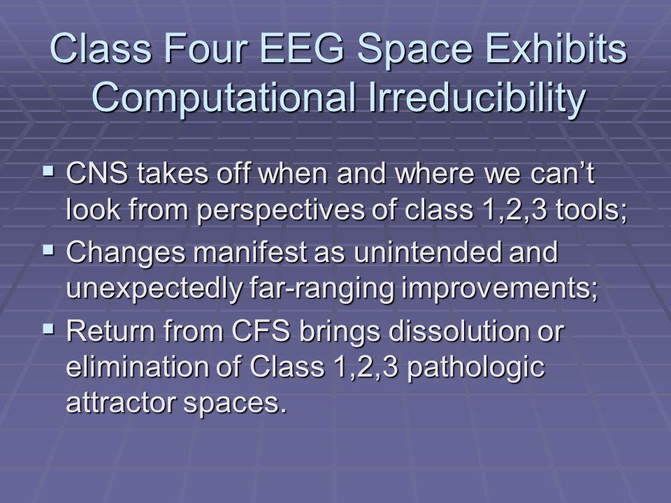 Class Four EEG Space Exhibits Computational Irreducibility