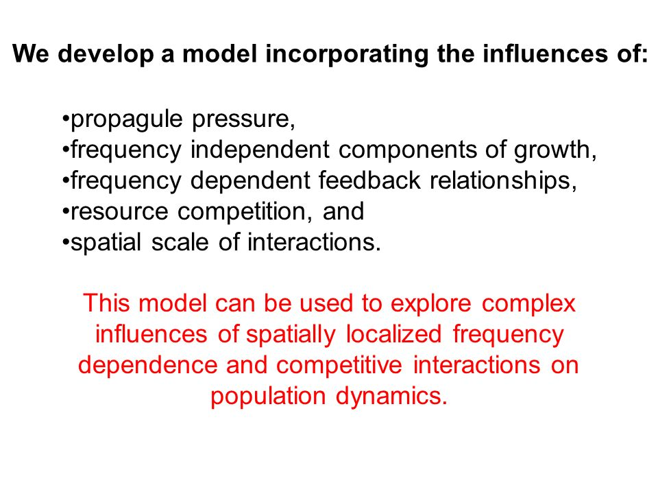 We develop a model incorporating the influences of: