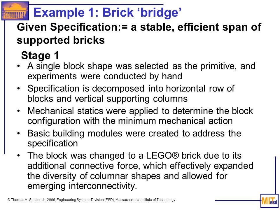 Example 1: Brick 'bridge'