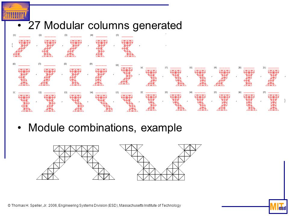 27 Modular columns generated