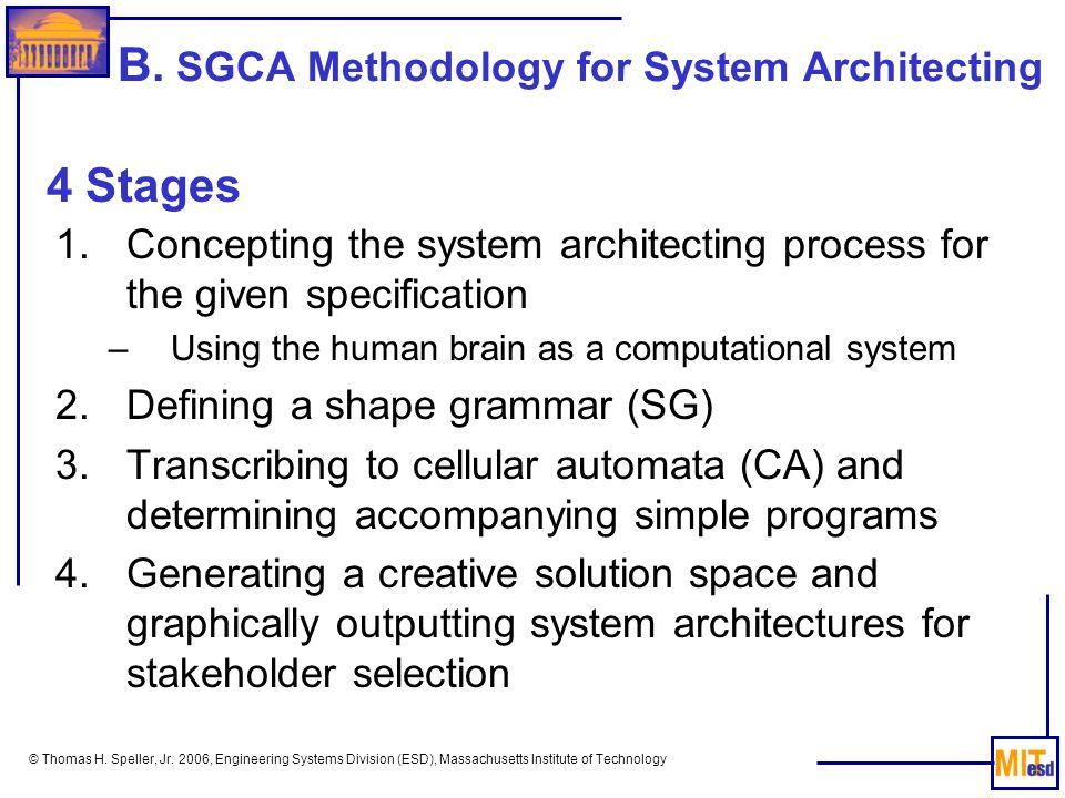 B. SGCA Methodology for System Architecting