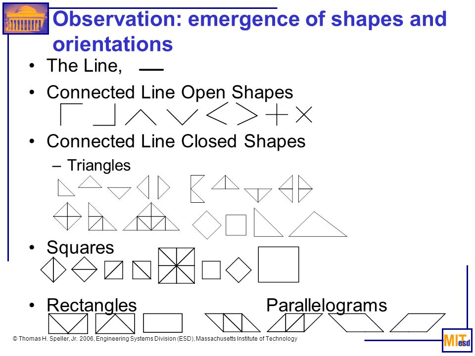 Observation: emergence of shapes and orientations