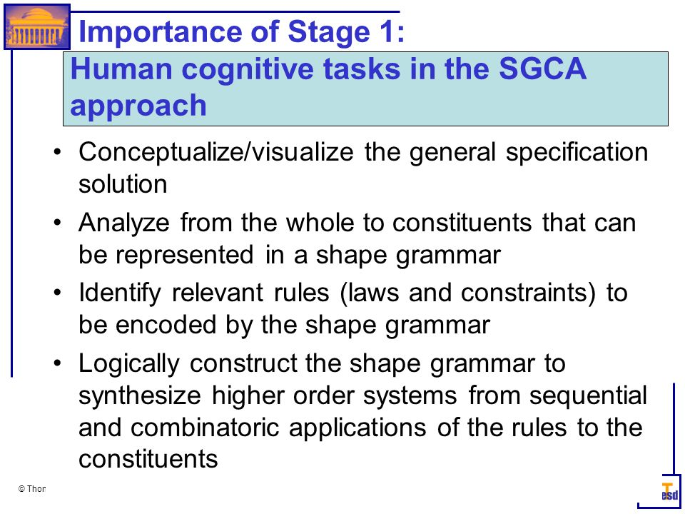 Importance of Stage 1: Human cognitive tasks in the SGCA approach