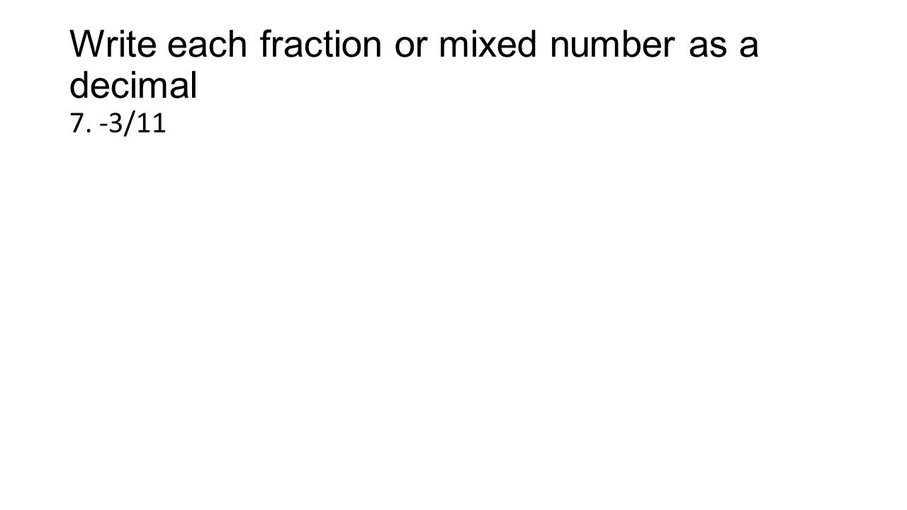 Convert mixed numbers to decimals