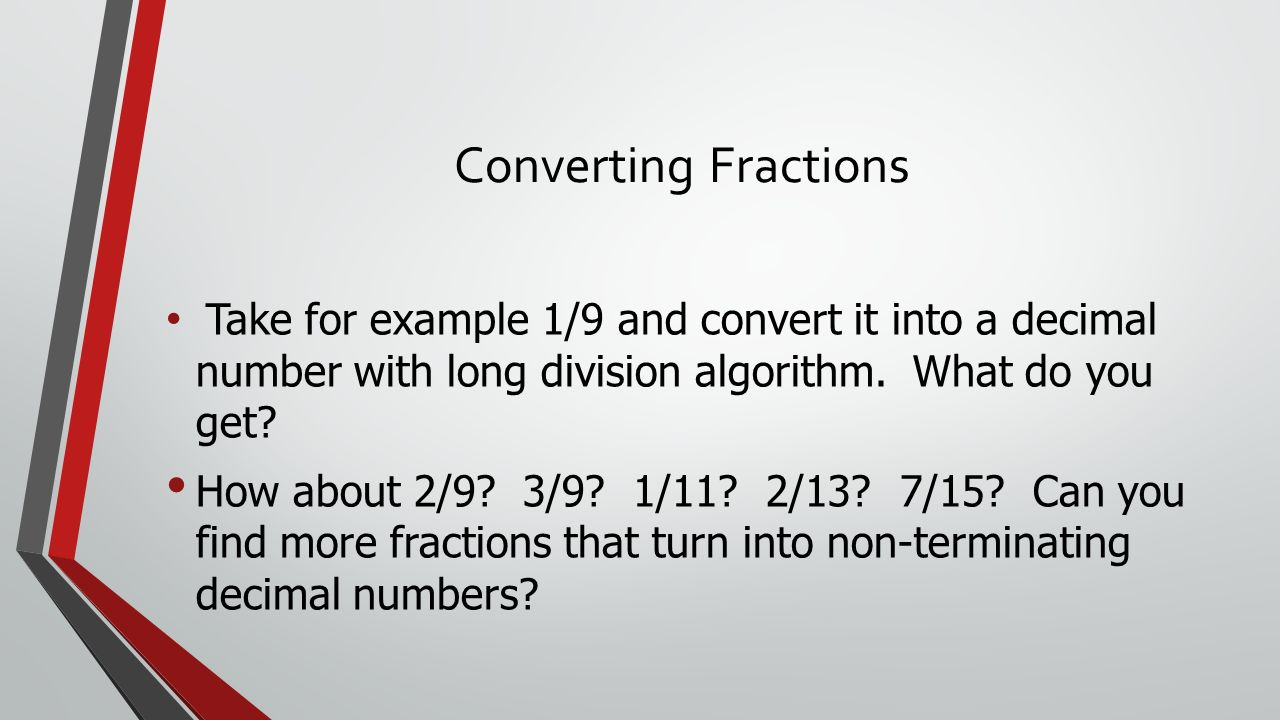 Converting Fractions to Decimals & Repeating Decimals ...