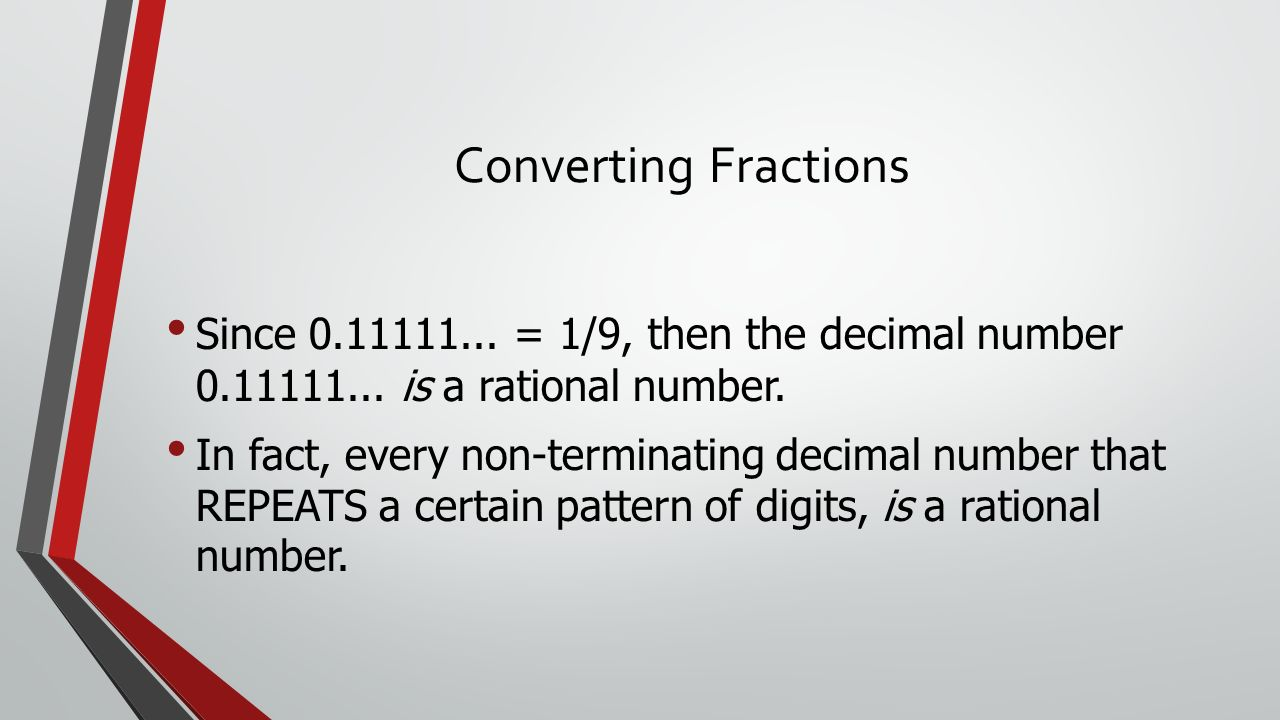 how to turn a decimal into rational number