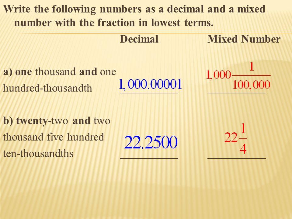 Notes 3.3 – Exploring Decimals - ppt download