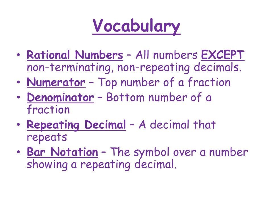 Rational Numbers Math 7/8. - ppt video online download