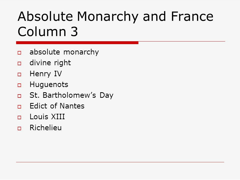 absolute monarchy in england and france The monarchs of europe 1500 - 1800 • the powers of spain • absolute monarchy of france • monarch in england • rules of russia and central europe.