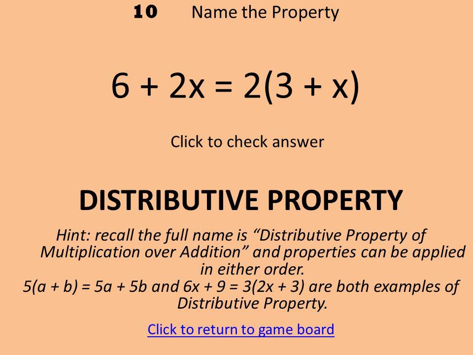 2-2 The Distributive Property Distributive Property of ...