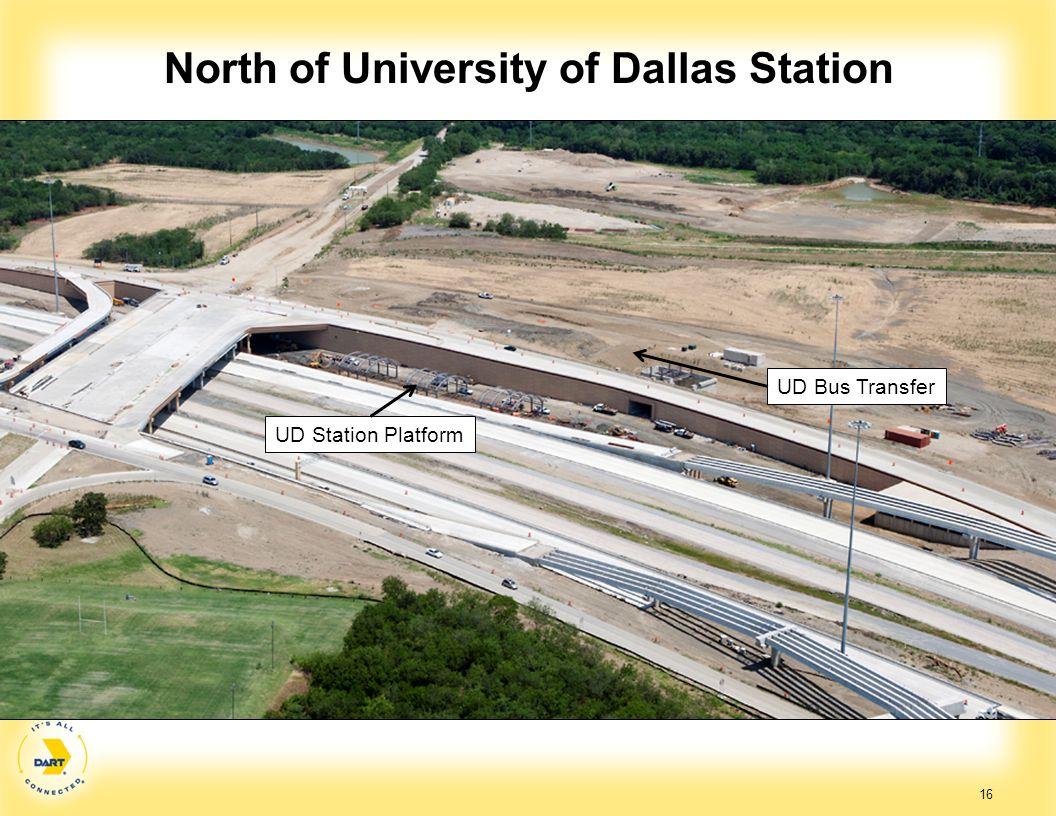 North of University of Dallas Station