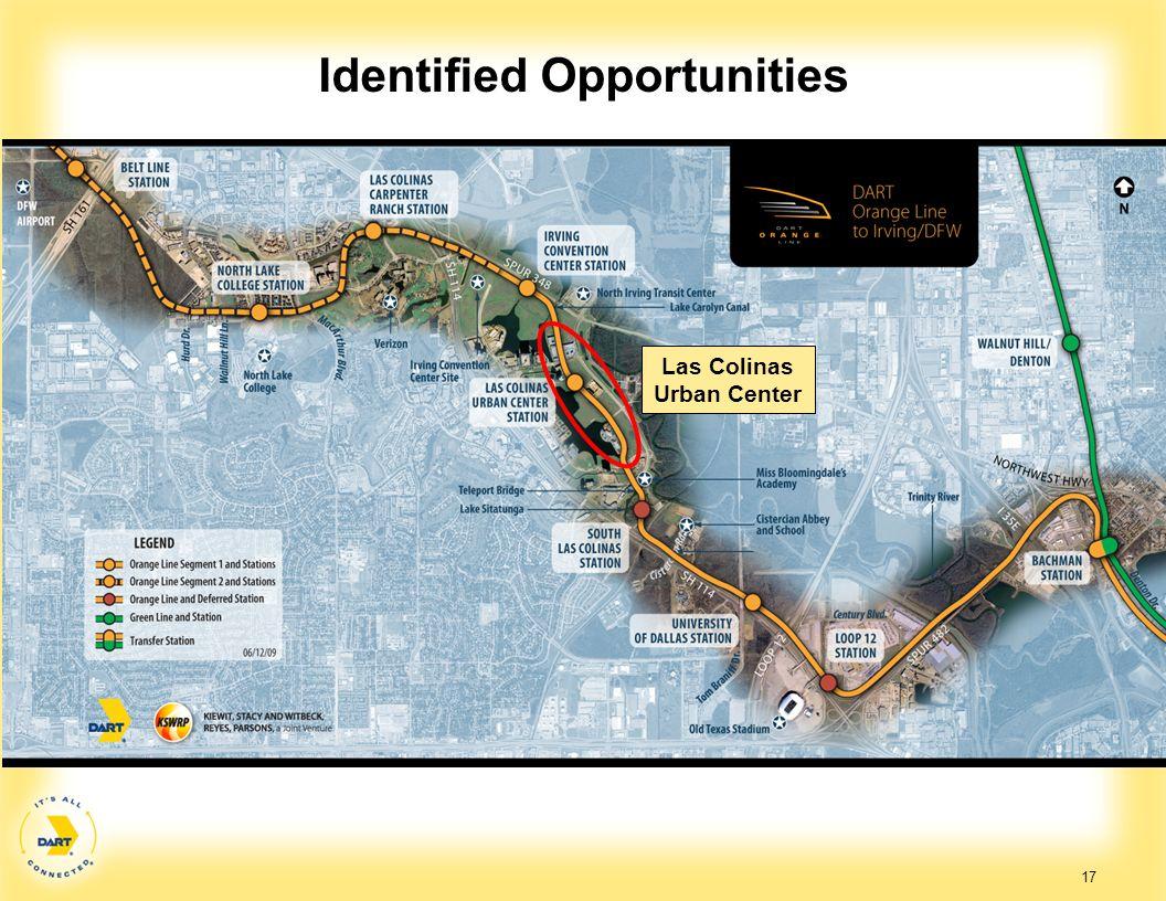 Identified Opportunities Las Colinas Urban Center