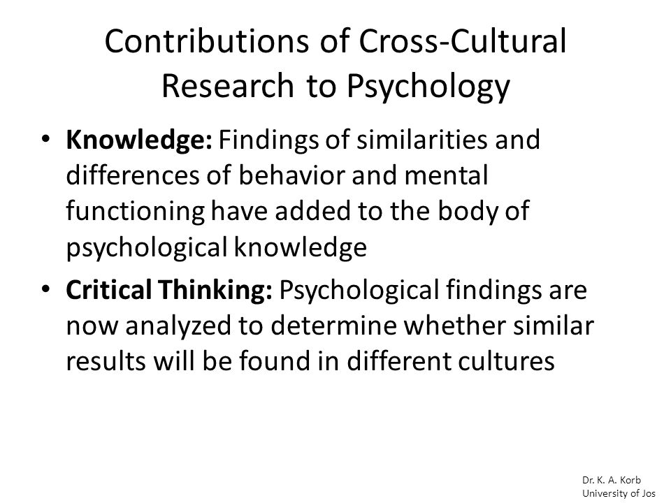 what is the role of critical thinking in cross cultural psychology Cross-cultural psychology: critical thinking and contemporary applications, sixth edition, 6th edition the book's unique critical thinking framework, including critical thinking boxes, helps to develop analytical skills exercises cross‐cultural sensitivity boxes underscore the importance of empathy in communication.