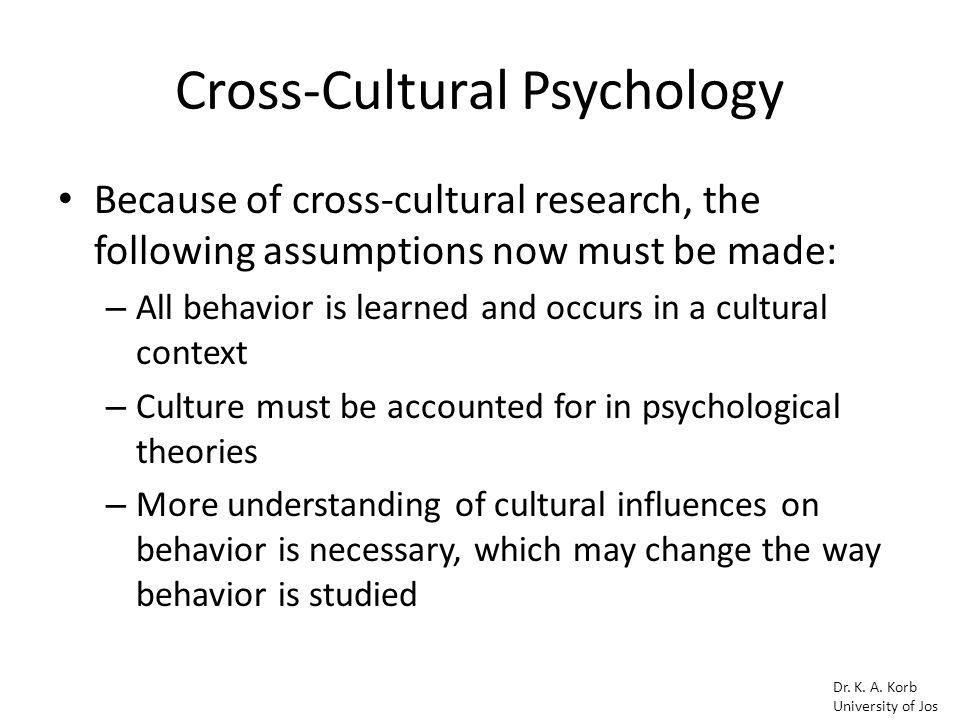 assumptions of human behavior