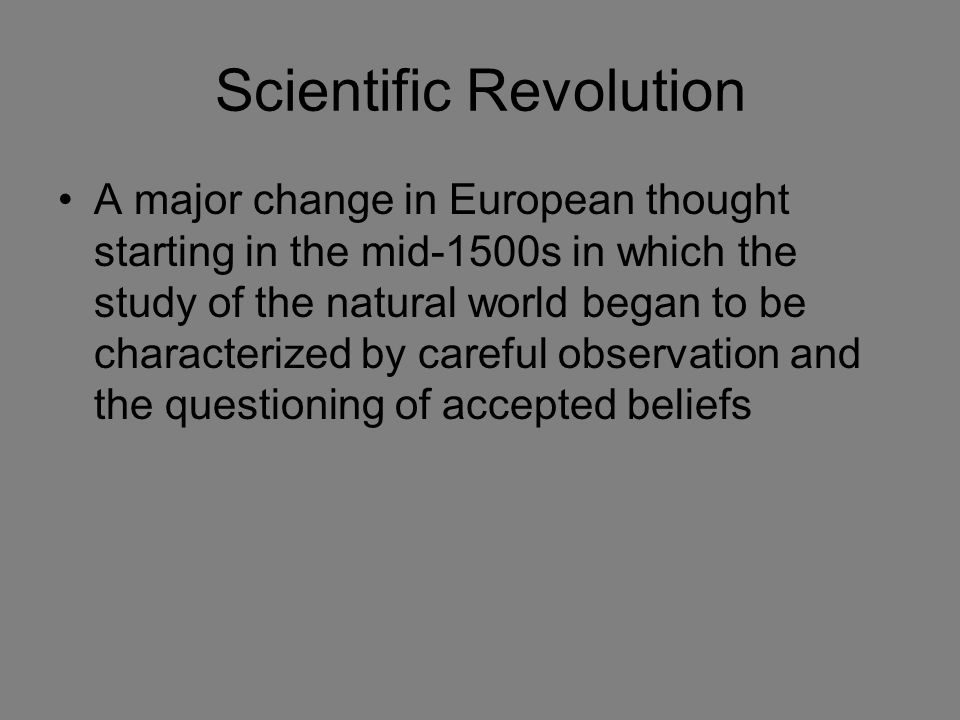 a study on scientific revolutions effect on religion Unlike most editing & proofreading services, we edit for everything: grammar, spelling, punctuation, idea flow, sentence structure, & more get started now.