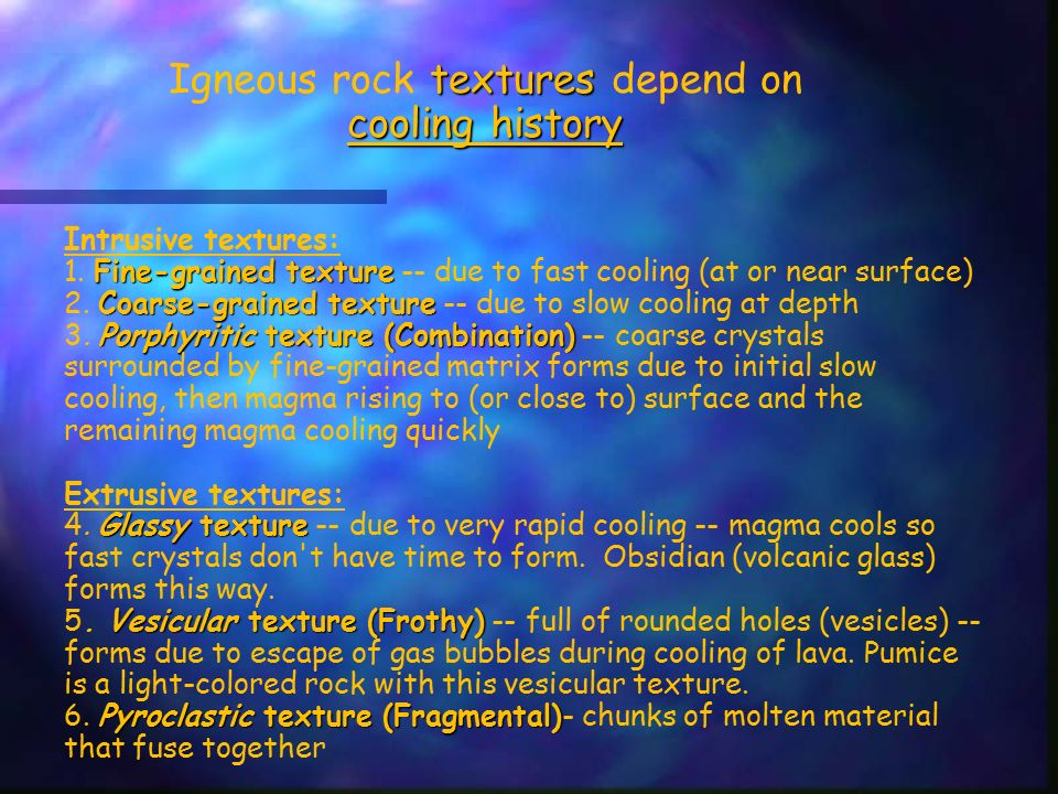 IGNEOUS ROCKS form when magma/lava cools and solidifies. - ppt ...