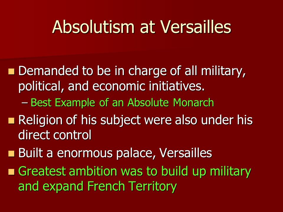 absolutism palace of versailles and nobility Concise notes on absolutism in western europe sharing options share on facebook, opens a new window share on twitter, opens a new window.