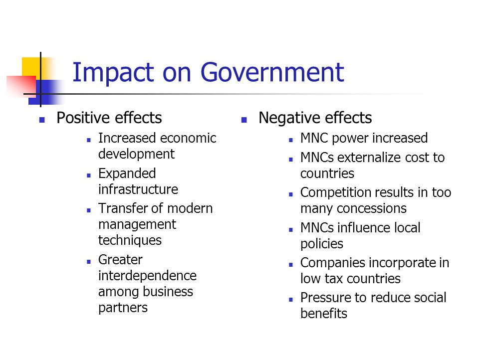 bad effects of mnc in india Globalization in india: effects  growing importance of mnc's,  balance of trade – negative balance should increase with.