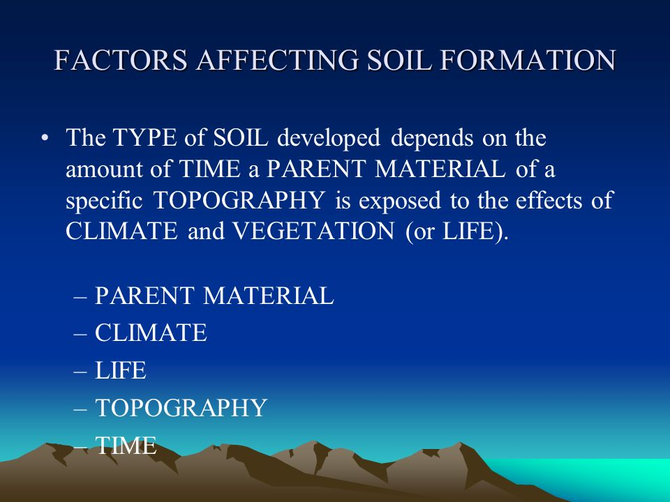 Soil origin and development ppt video online download for Soil research impact factor