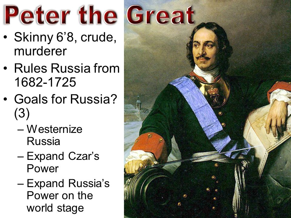 the impact of peter the greats westernization of russia Russia - peter the great and european history for ap world history  no beards  for nobles westernization seen as path to prosperity and influence cultural.