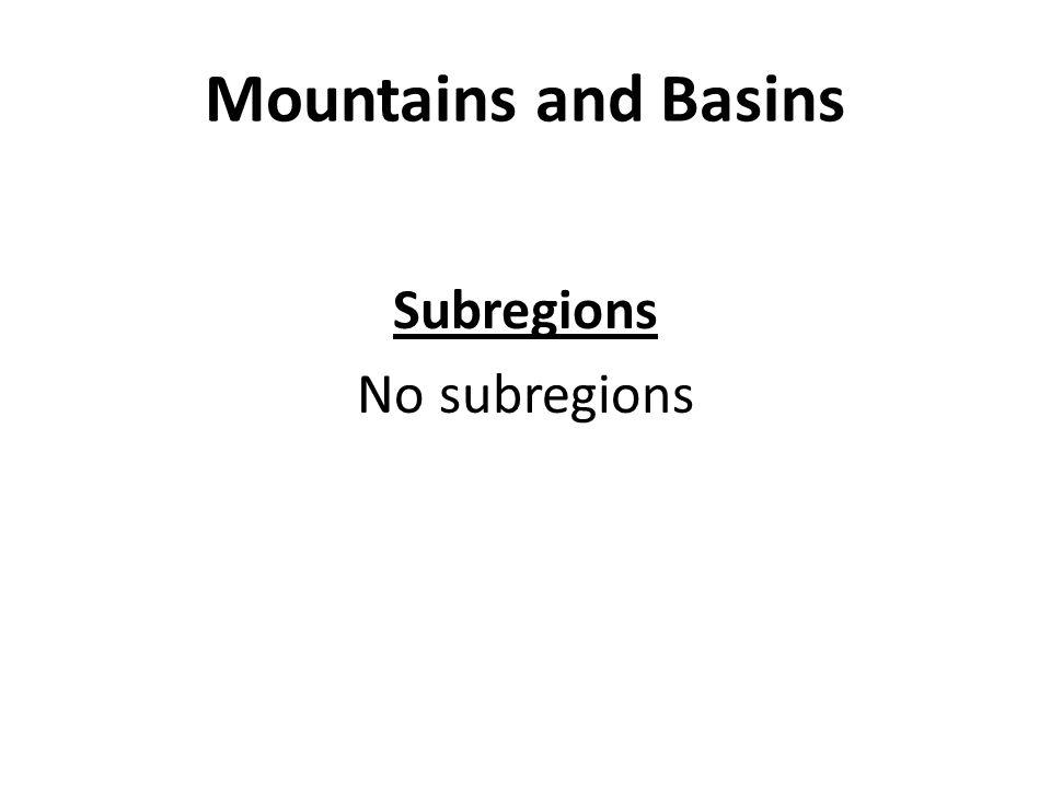 Subregions No subregions