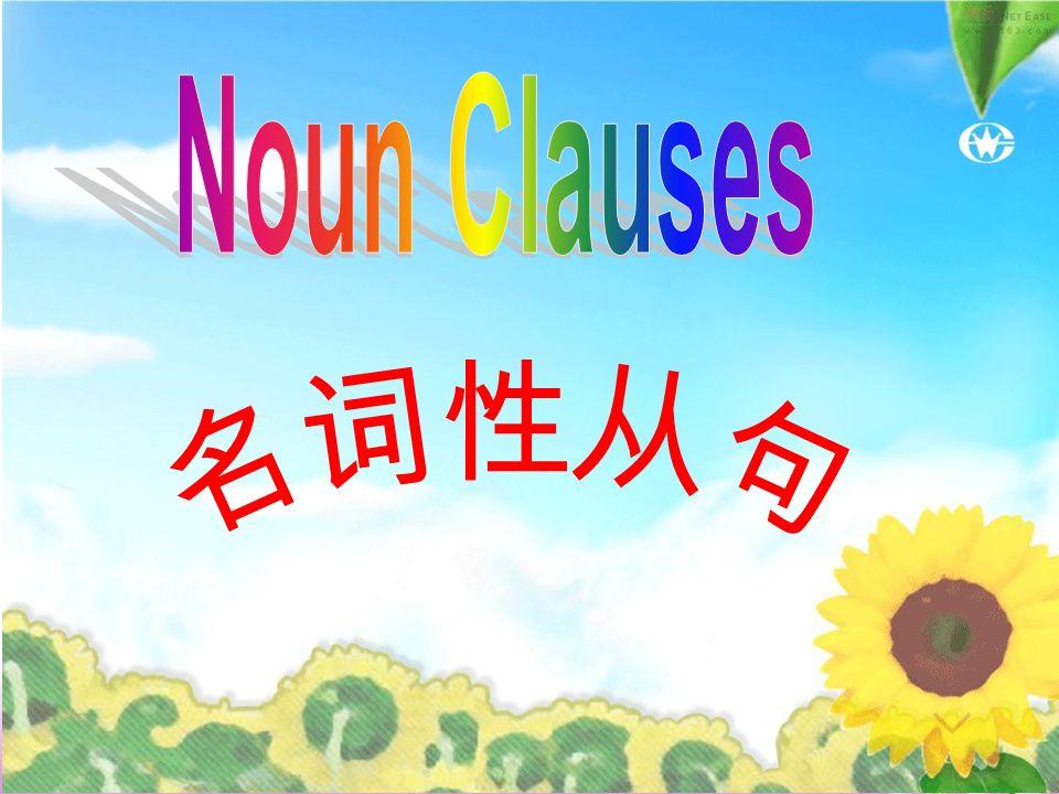 Noun Clauses 名词性从句