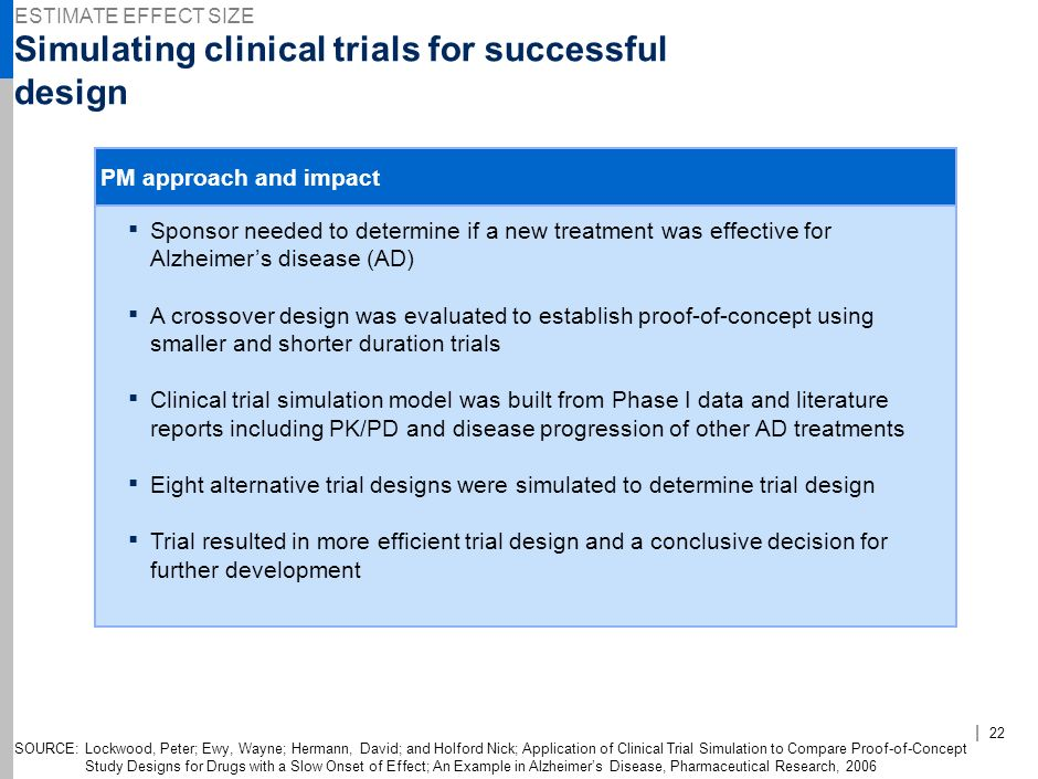 Simulating clinical trials for successful design
