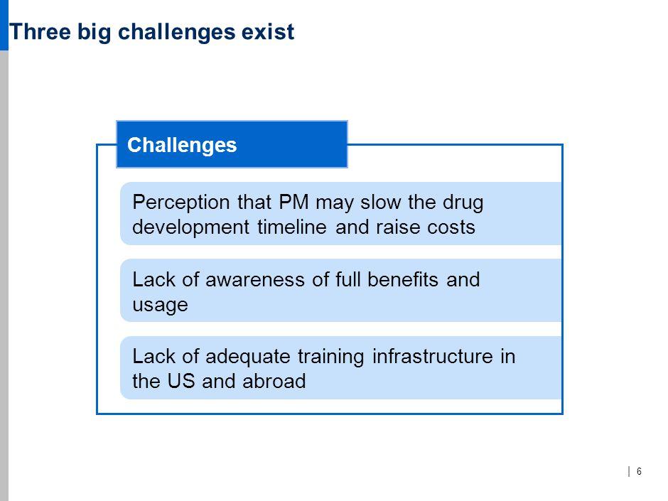 Three big challenges exist