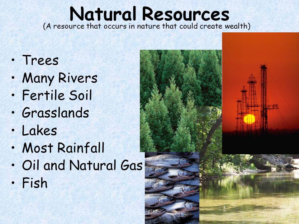 Major Natural Resources North America