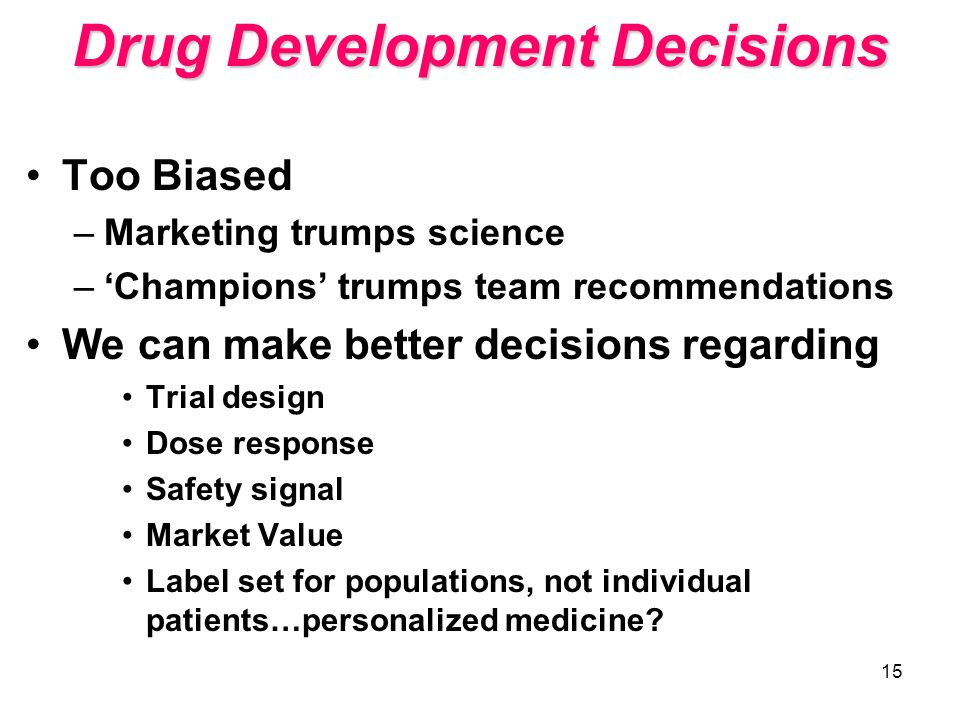 Drug Development Decisions