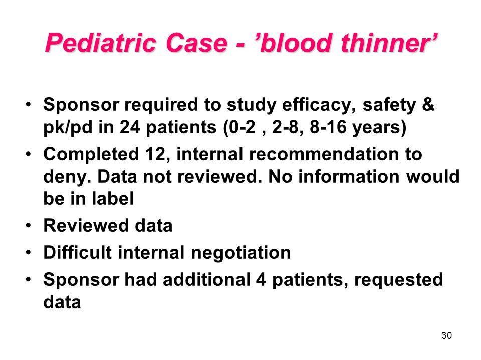 Pediatric Case - 'blood thinner'