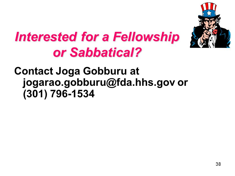Interested for a Fellowship or Sabbatical