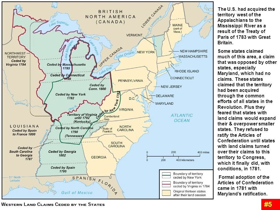 the u s had acquired the territory west of the appalachians to the mississippi river as a
