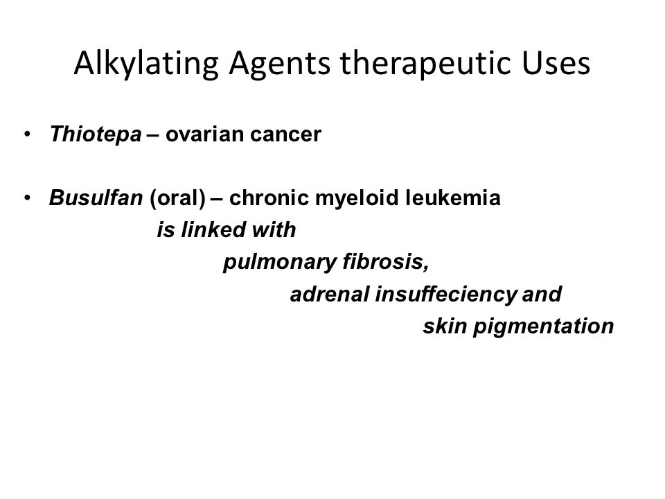 Alkylating Agents therapeutic Uses
