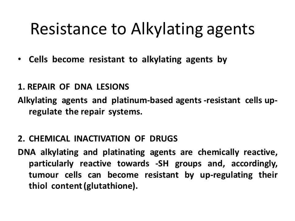 Resistance to Alkylating agents