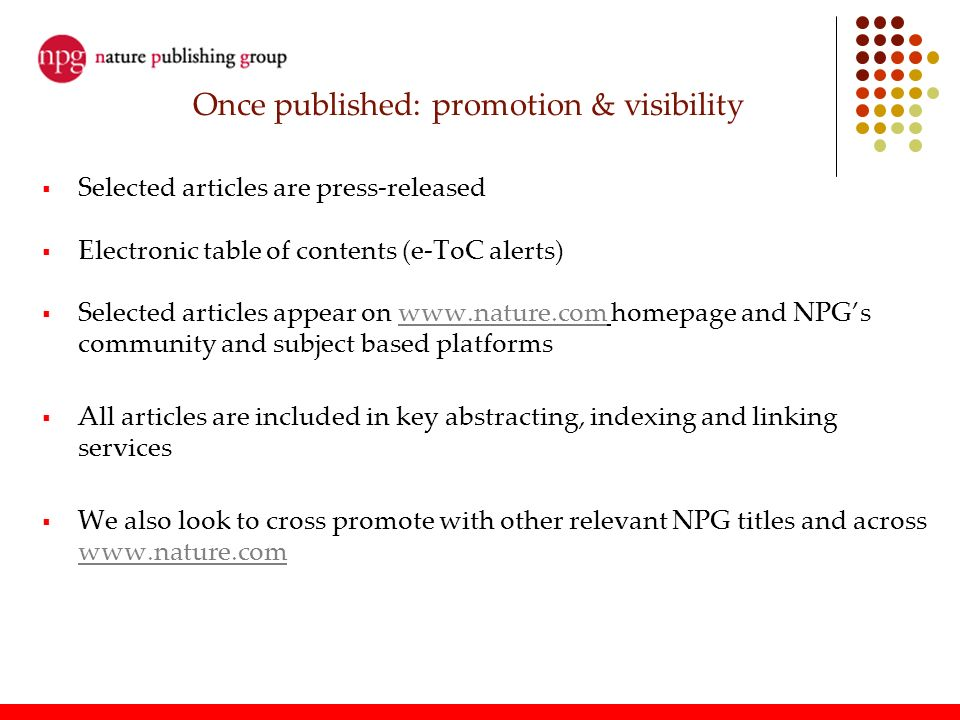 Once published: promotion & visibility