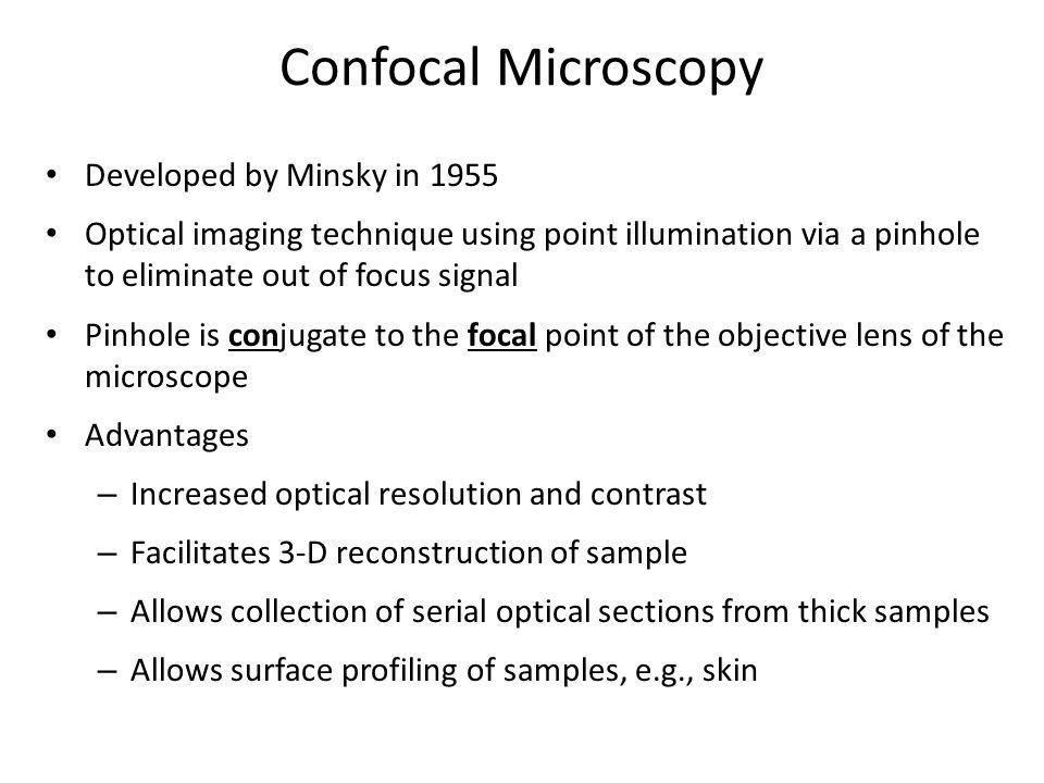 Confocal Microscopy Developed by Minsky in 1955