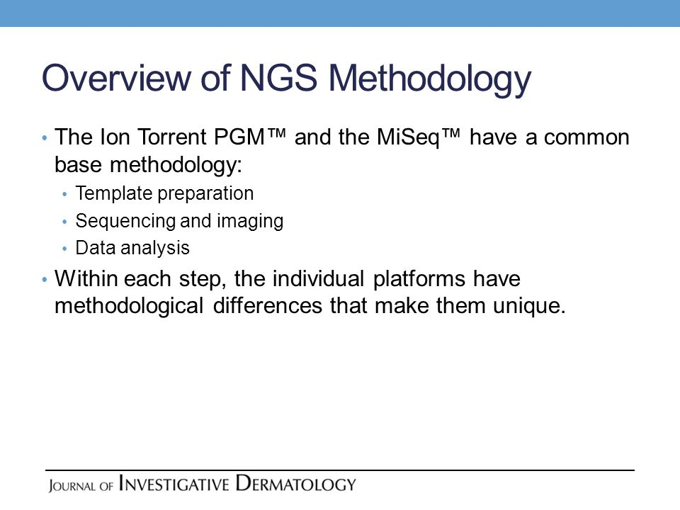 Overview of NGS Methodology