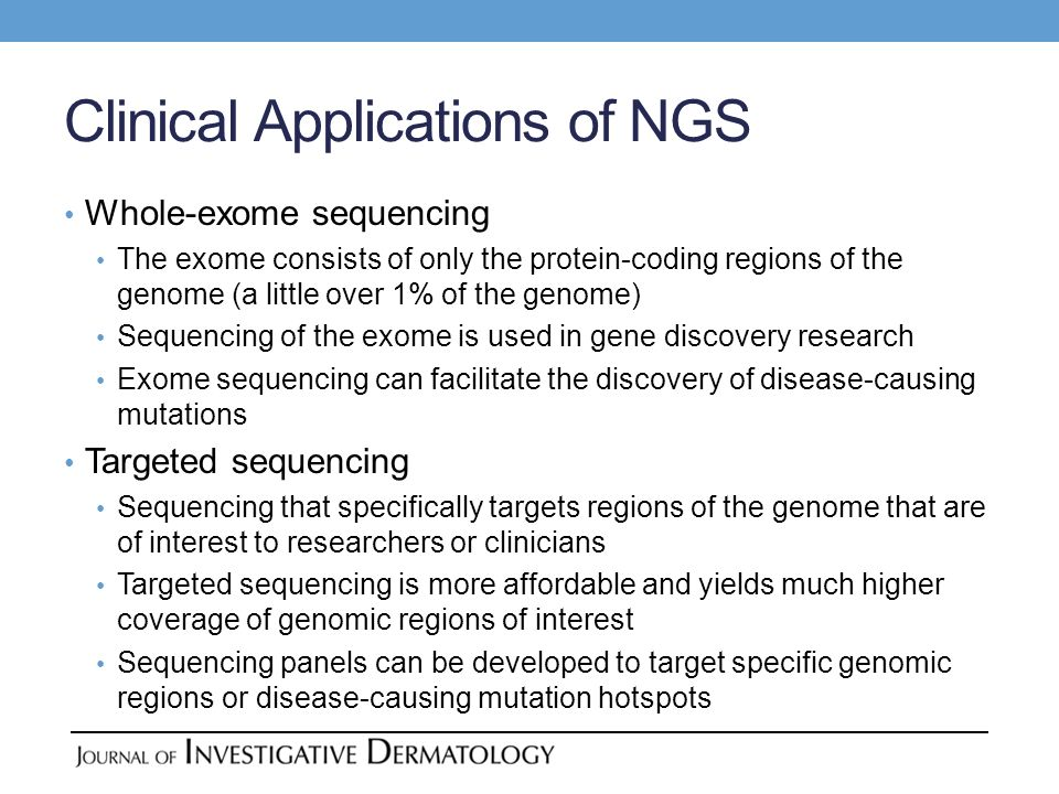 Clinical Applications of NGS