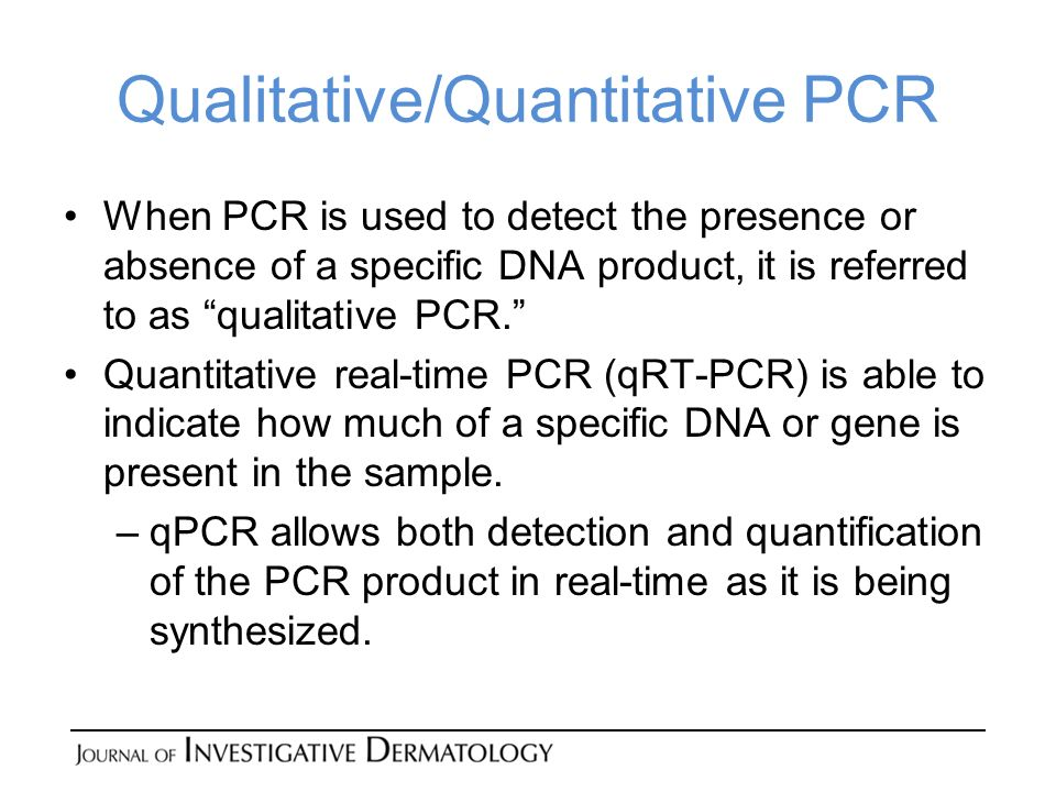 Qualitative/Quantitative PCR