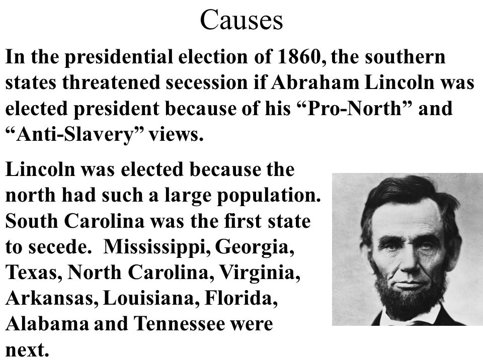 What caused secession