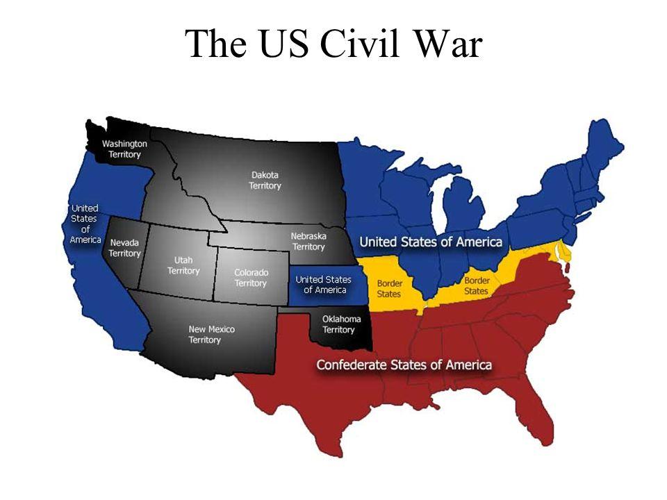 The US Civil War Ppt Video Online Download - Us civil war states map