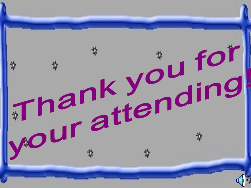Thank you for your attending!