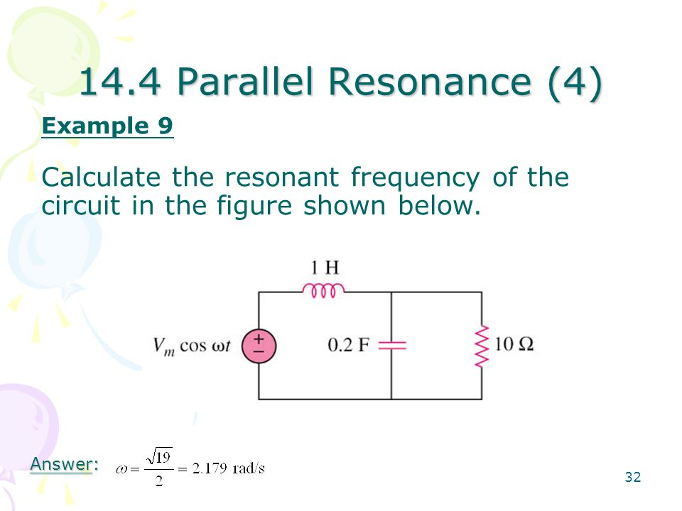 how to find resonant frequency