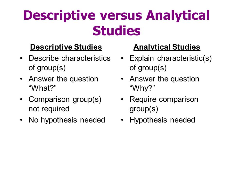 what is analytical research
