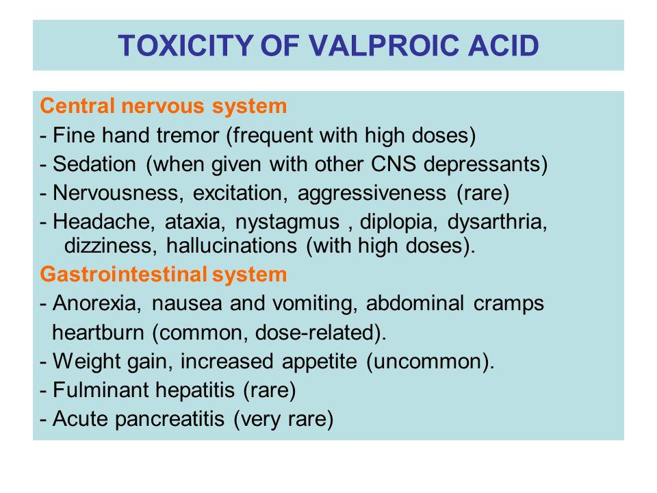 Valproic Acid Dose For Migraine