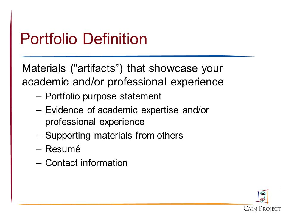 Developing and maintaining your professional e portfolio ppt video 3 portfolio definition altavistaventures Images