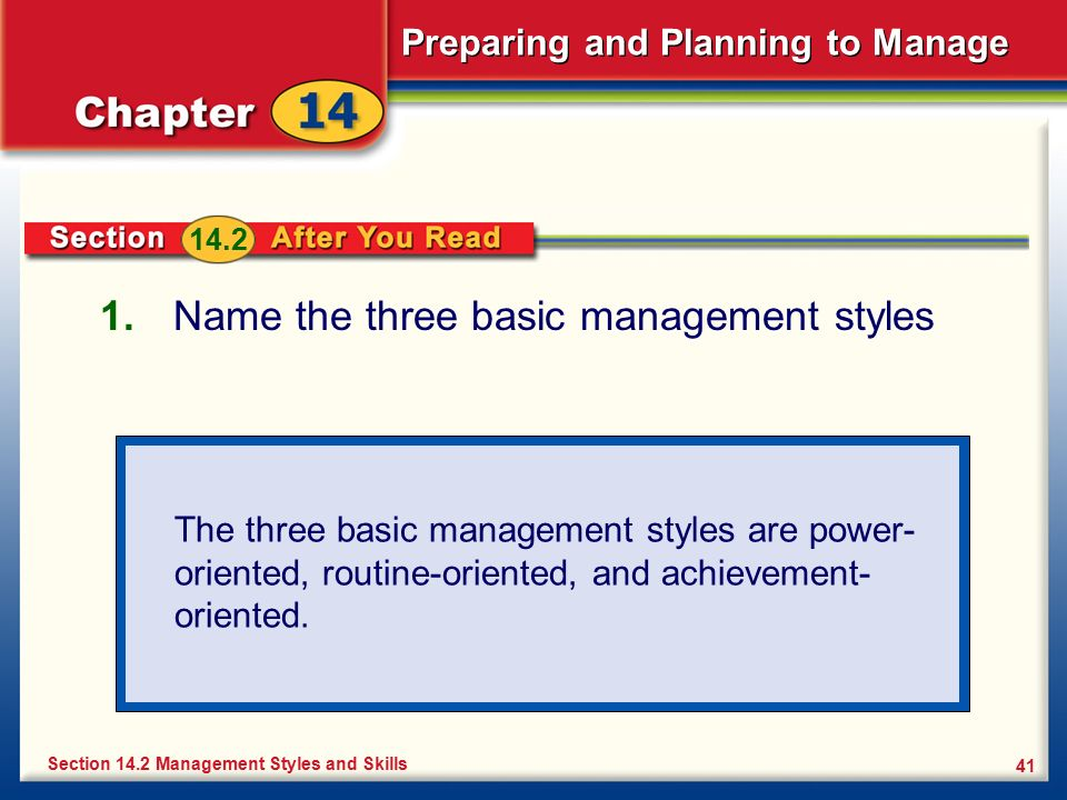Name the three basic management styles